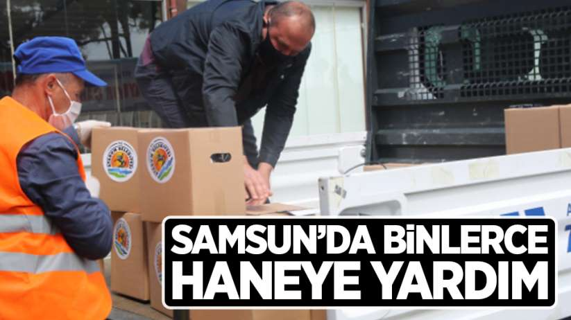 Samsun'da binlerce haneye yardım