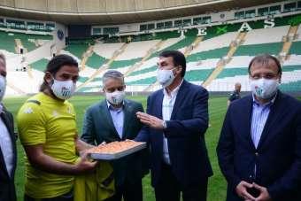 Bursaspor antrenmanına sürpriz ziyaret