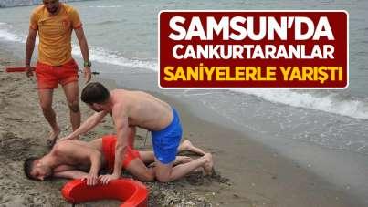 Samsun'da cankurtaranlar saniyelerle yarıştı