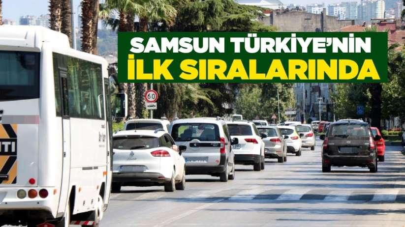 Samsun Türkiye'nin ilk sıralarında