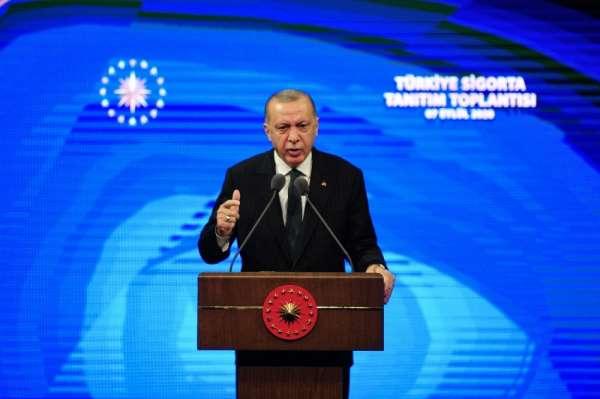 Cumhurbaşkanı Erdoğan: Ülkemizin en büyük sigorta ve emeklilik şirketini tesis