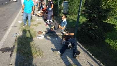 Samsun'da dolmuş minibüs ile otomobilin çarpıştığı kazada çok sayıda yolcu yaral