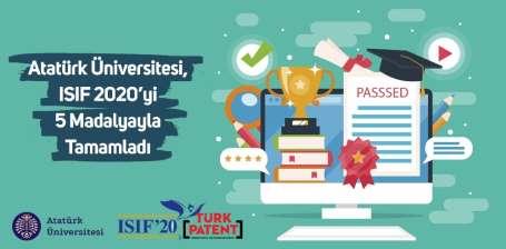 Atatürk Üniversitesi, ISIF 2020'yi 5 Madalyayla Tamamladı
