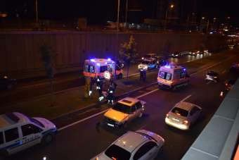 Malatya'da alt geçitte kaza: 4 yaralı