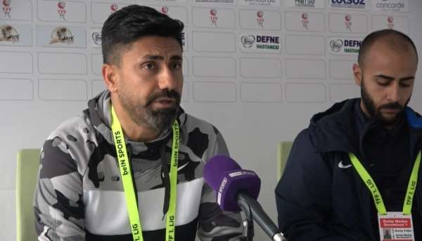 Hatayspor-Boluspor maçının ardından