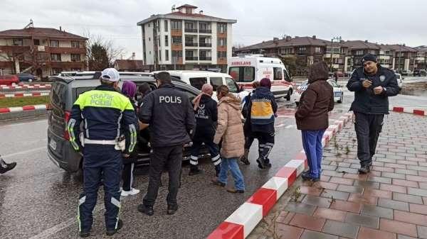 Düzce'de kaza 1 yaralı