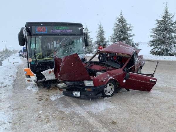 Eskişehir'de trafik kazası, 1 ölü 1 ağır yaralı