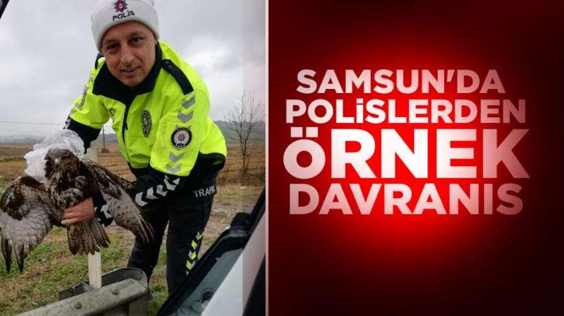 Samsun'da polislerden örnek davranış