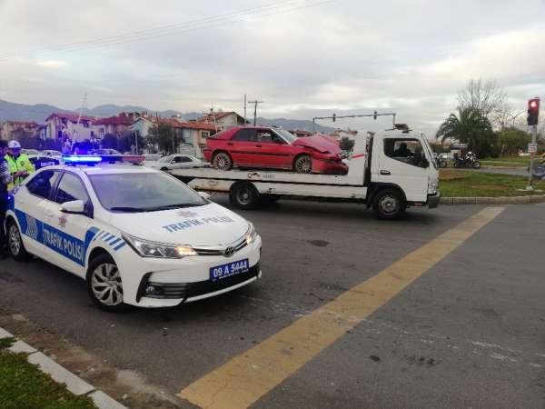 Aydın'da zincirleme trafik kazası; 4 yaralı