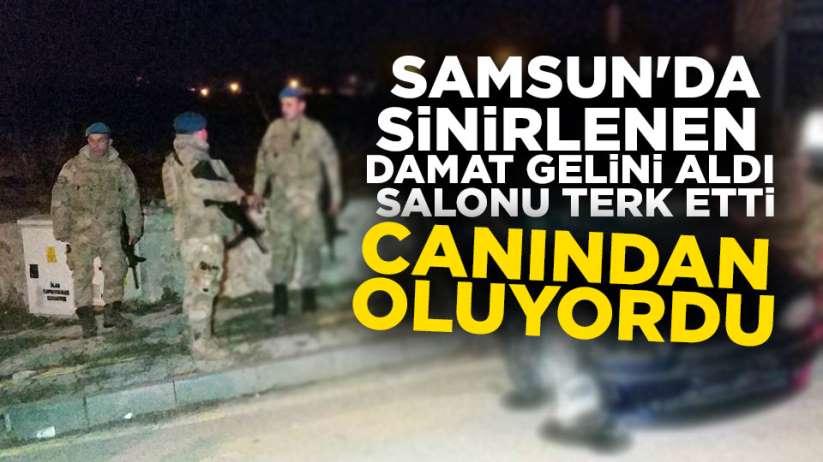 Samsun'da sinirlenen damat kaza yaptı