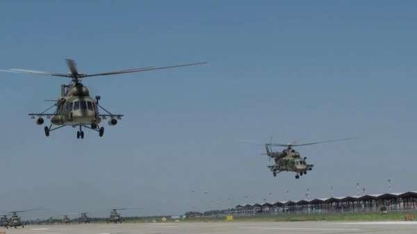 Rus ordusundan 2 farklı bölgede roketatar ve helikopterli tatbikat