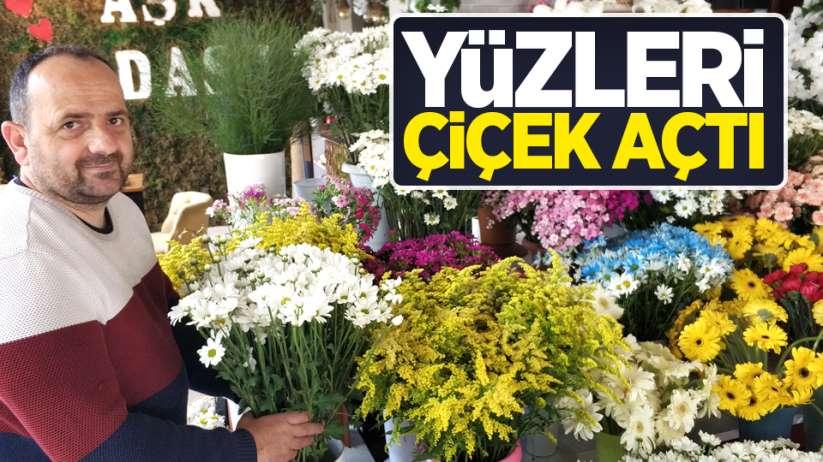 Samsun'da çiçekçiler Anneler Günü'nden umutlu