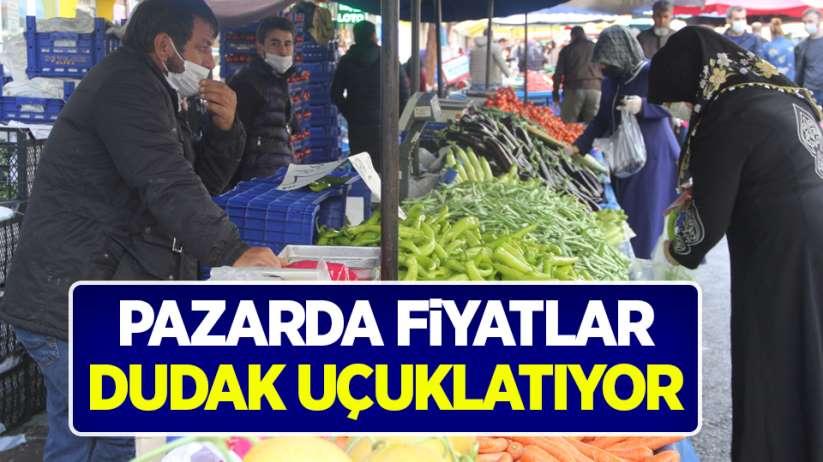 Samsun'da pazarda fiyatlar dudak uçuklatıyor