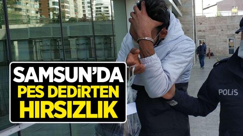 Samsun'da pes dedirten hırsızlık