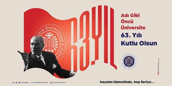 Atatürk üniversitesi 63 yaşında