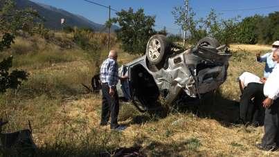 Denizli'de trafik kazası: Anne öldü, eşi ve 2 çocuğu yaralandı