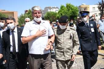 Siverek'te şehit polis memuru için tören düzenlendi