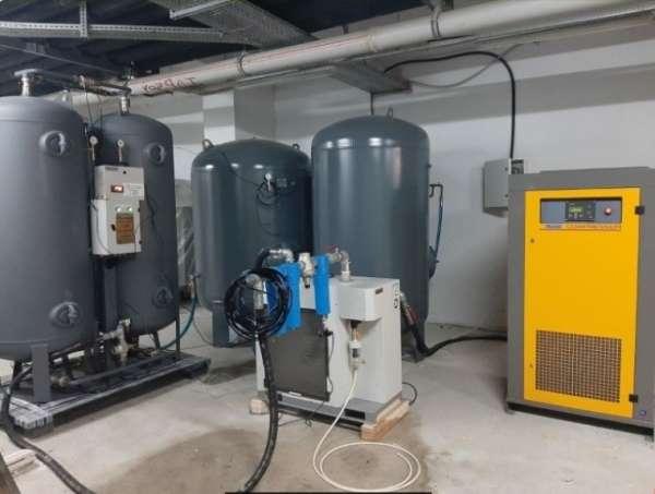 Boyabat Devlet Hastanesi'ne merkezi oksijen sistemi kuruldu