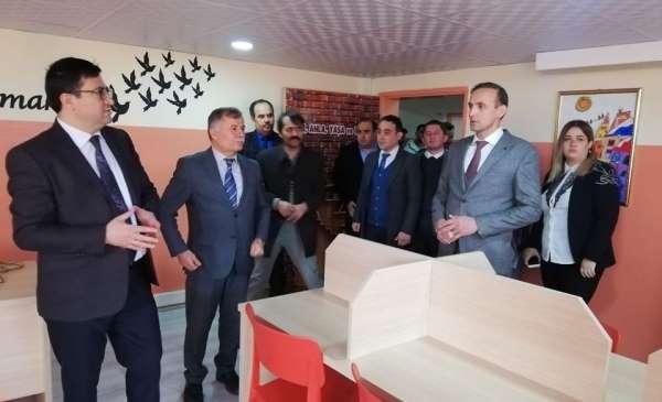 Alaçam'da kütüphane açılışı