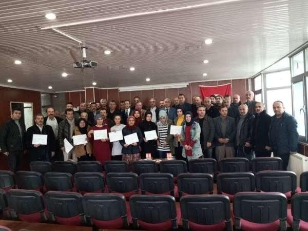 Besi yetiştiriciliği kursiyerlerine sertifika