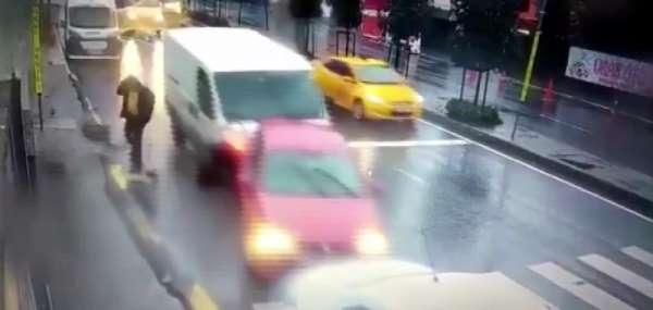 (Özel) İnanılmaz kazada ölümden saniyelerle böyle kurtuldu