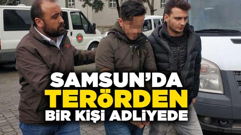 Samsun'da terörden bir kişi adliyede