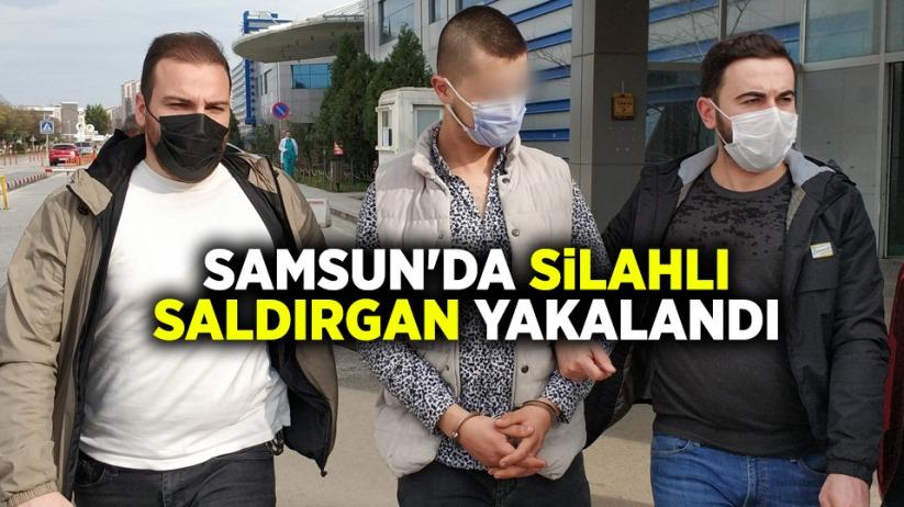 Samsunda silahlı saldırgan yakalandı