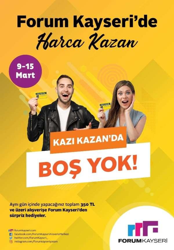 Kazandıran alışveriş Forum Kayseri'de