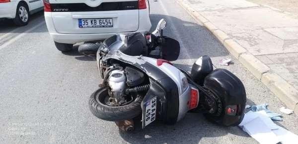 Çeşme Belediyespor Teknik Direktörü Akgül motosikletiylekaza geçirdi