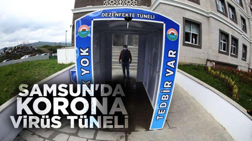 Samsun'da Korona virüsüne karşı 'Dezenfekte Tüneli'