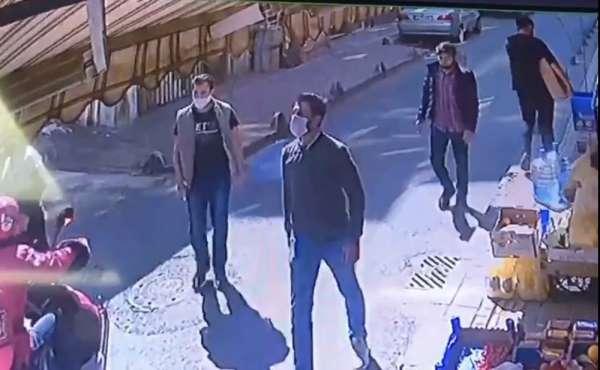(Özel) Esenler'de maskeli magandalar, iki işletmeciyi tekme tokat dövdü