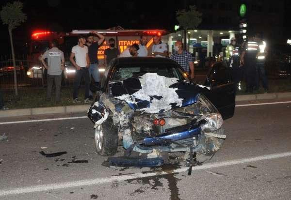 Bafra'da kaza: 4 yaralı