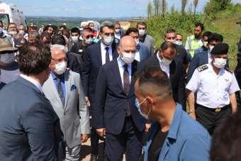 İçişleri Bakanı Süleyman Soylu patlama bölgesinde