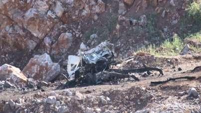 Sakarya'da 3 askerin şehit düştüğü patlama alanı görüntülendi