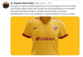 Alpaslan Baki Ertekin, '2 saat HES Kablo Kayserispor'u Konuştuk'