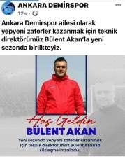 Ankara Demirspor'da Bülent Akan dönemi
