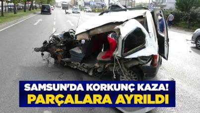 Samsun'da korkunç kaza! Parçalara ayrıldı