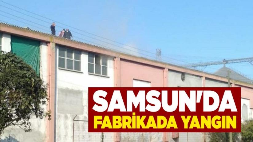 Samsun'da fabrikada yangın