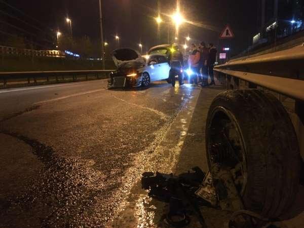 Şile otoyolunda zincirleme kaza: 2 yaralı