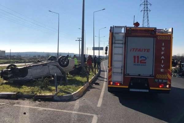 Balıkesir'de trafik kazası: 4 yaralı