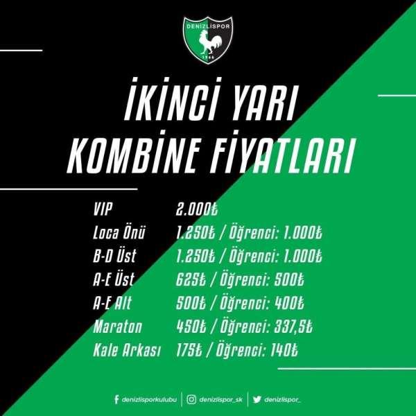 Denizlispor'da ikinci yarı kombine bilet fiyatları açıklandı