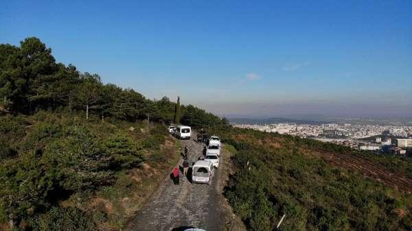 PKK terör örgütü adına yangın çıkarılan Aydos Ormanlarında mahkeme heyeti keşif