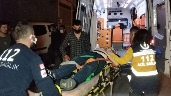Samsunda yoldan çıkan araç kaldırıma çıktı: 1 yaralı
