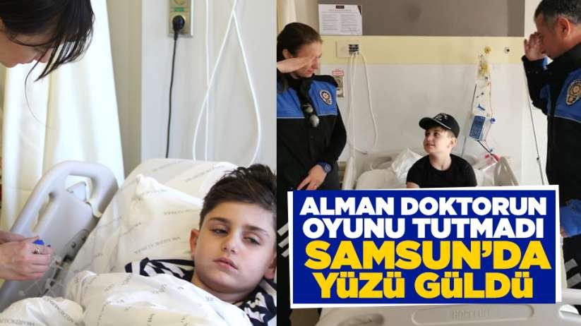 Samsun'da yüzü güldü! Alman doktorun oyunu tutmadı