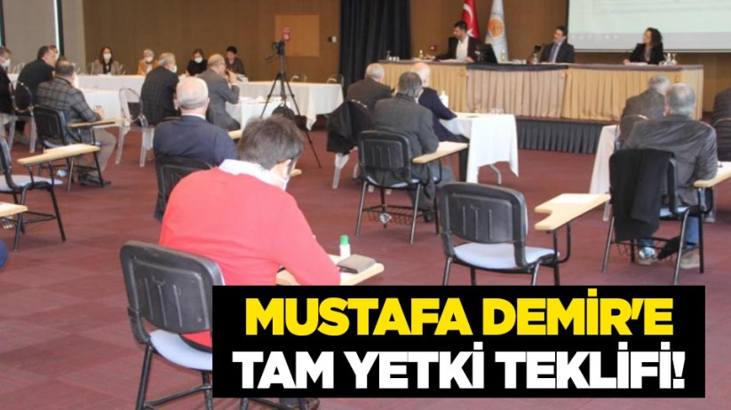 Mustafa Demire tam yetki teklifi!