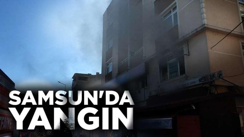 Samsun'da bir işletmede yangın çıktı