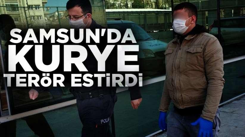 Samsun'da kurye terörü