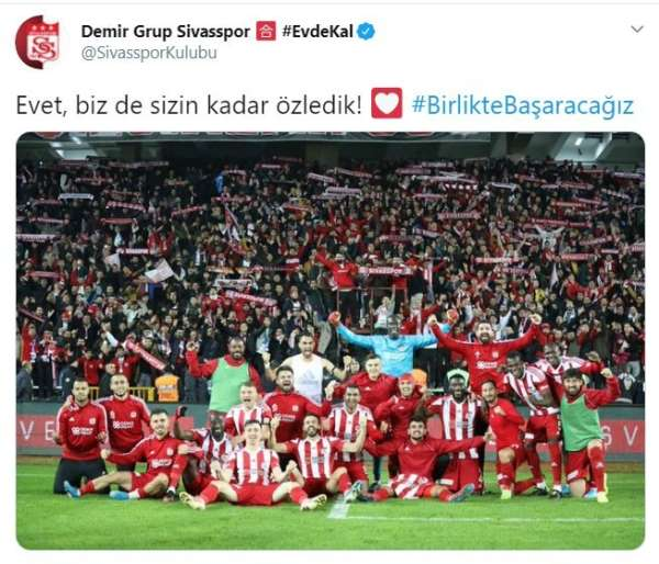 Sivasspor: 'Futbolu özledik'