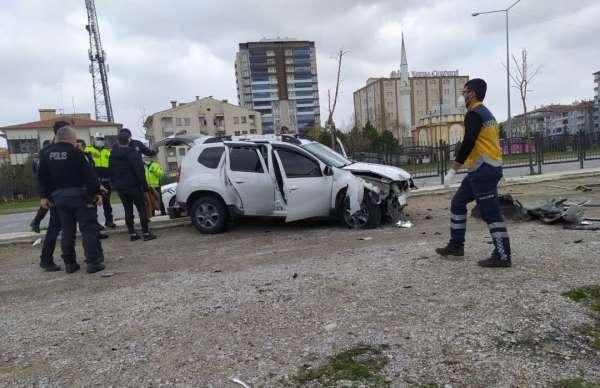 Çorumda trafik kazası: 3 yaralı