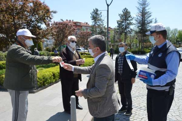 Havza Belediyesi'nden yaşlılara Borel ve maske